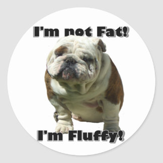 I'm not fat Bulldog stickers