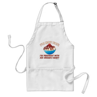 I'm not fat! I'm pregnant with Ice Cream's baby! Standard Apron