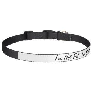 I'm Not Fat, I'm Sturdy Dog Collar