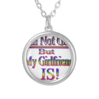 I'm NOT Gay But My Girlfriend Is Round Pendant Necklace
