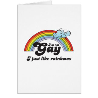 Im not Gay dark Greeting Card