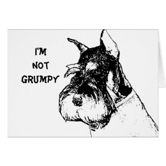 I'm not grumpy card