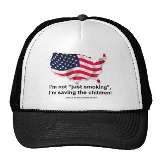 """I'm not """"Just Smoking"""" I saving the children! Trucker Hat"""