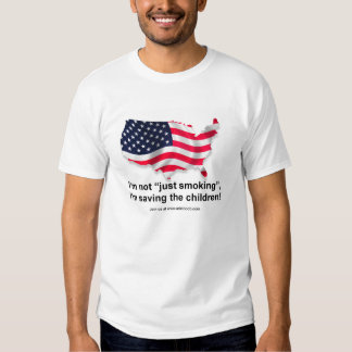"I'm not ""Just Smoking"" I saving the children!  MUG Tshirts"