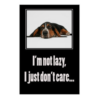 I'm not lazy I just don't care Posters
