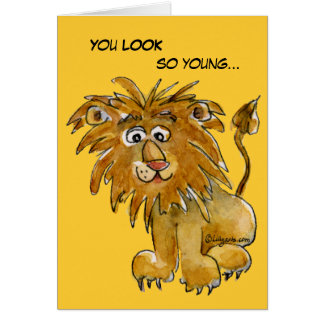 I'm not LION Birthday Card