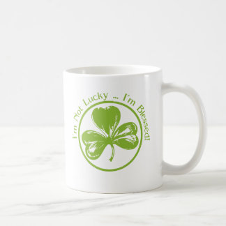 I'm Not Lucky, I'm Blessed Clover Coffee Mug