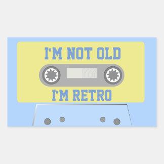 """I'm not old, I'm retro"" Rectangular Sticker"