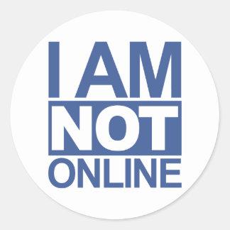 I'm NOT online Sticker