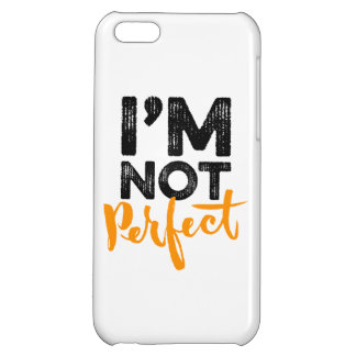 I'm Not Perfect - Hand Lettering Typography Design iPhone 5C Cases
