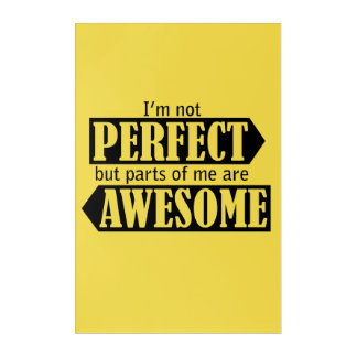 I'm not Perfect Wall Art Yellow