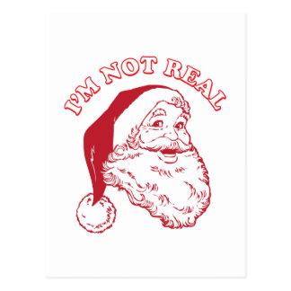 I'm not real postcard