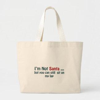 I'm not santa jumbo tote bag