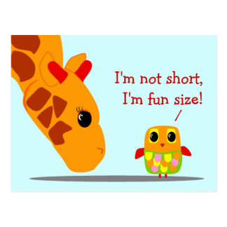 I'm not short, I'm fun size Funny Postcard