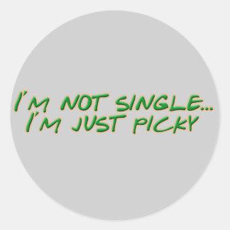 I'm not single sticker