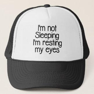 I'm not sleeping funny trucker hat