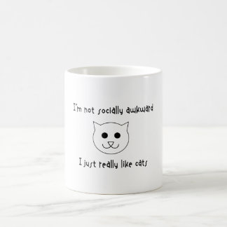 I'm Not Socially Awkward, I Just Really Like Cats Morphing Mug