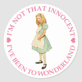 I'M NOT THAT INNOCENT CLASSIC ROUND STICKER