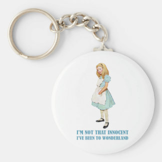 I'm Not That Innocent. I've Been To Wonderland. Basic Round Button Key Ring
