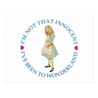 I'm Not That Innocent. I've Been to Wonderland Postcard