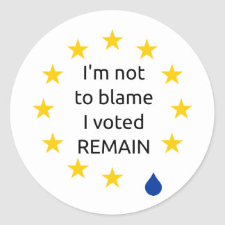 I'm not to blame I voted remain, stickers