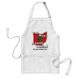 I'm Nuts About Ohio, Funny Red Buckeye Nut Standard Apron