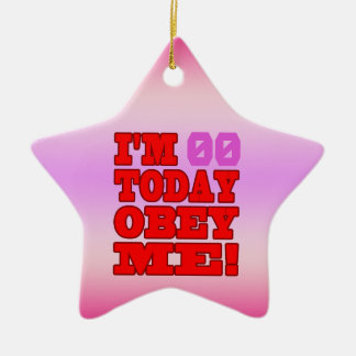I'm - Obey Me! Funny Customize Birthday Template Christmas Ornament