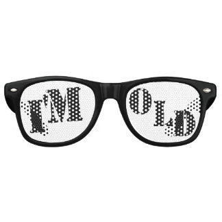 I'm OLD - Funny Over The Hill Birthday Gag Gift Retro Sunglasses