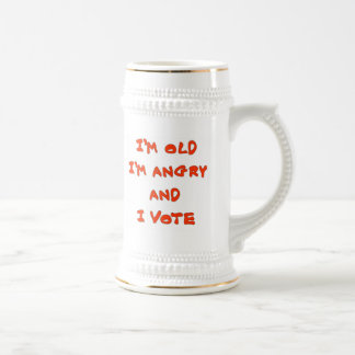 I'M OLD I'M ANGRY BEER STEINS