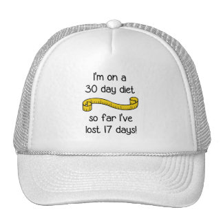 I'm On a 30 Day Diet Cap
