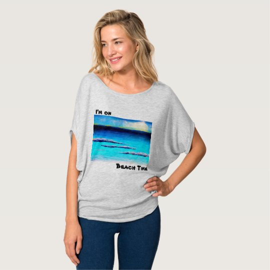 I'm on Beach time women's top