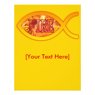I'm on FIRE for Christ - Christian Fish Symbol Personalized Flyer