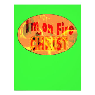 I'm on fire for CHRIST Flyers