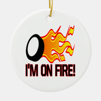 Im On Fire Round Ceramic Decoration