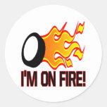 Im On Fire Round Sticker
