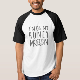 """I'm on my Honeymoon"" Personalized Hearts T-Shirt"
