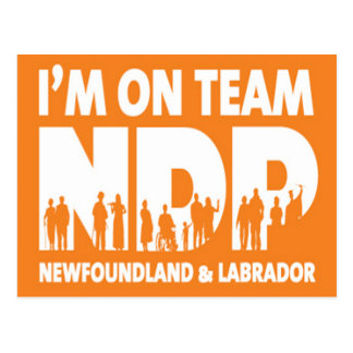 I'm on Team NDP - Newfoundland & Labrador Postcard