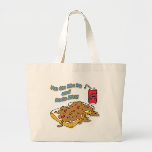 I'm On The PJ and Soda Diet Canvas Bags