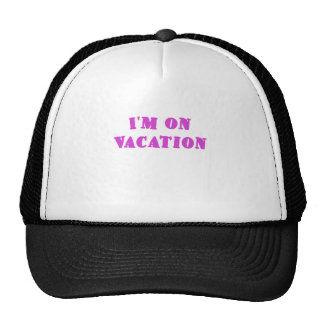 Im on Vacation Mesh Hats