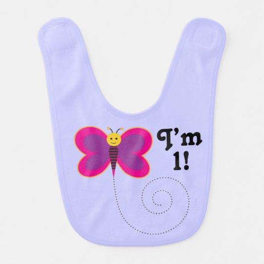 I'm One 1st Birthday Butterfly Baby Bib