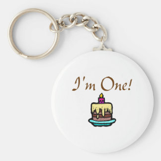 I'm One! Basic Round Button Key Ring