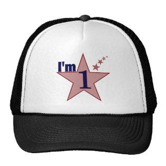 I'm one (boy 1st birthday party) cap