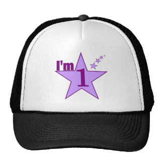 I'm one (girl 1st birthday party) cap