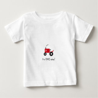 """I'm ONE now!"" Baby Tractor T-Shirt"
