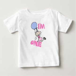 I'm One Stick Figure Girl Birthday Baby T-Shirt