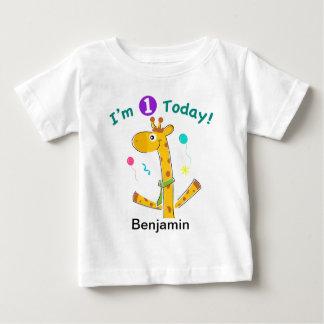 I'm One Today - Giraffe Design Tees