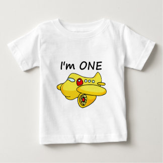 I'm One, Yellow Plane Baby T-Shirt
