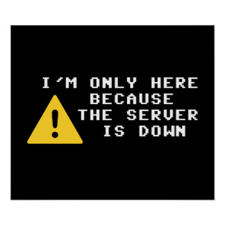 I'm Only Here Because the Server is Down Poster