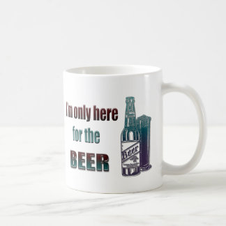 I'm only here for the Beer Coffee Mug