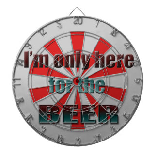 I'm only here for the Beer Dartboard